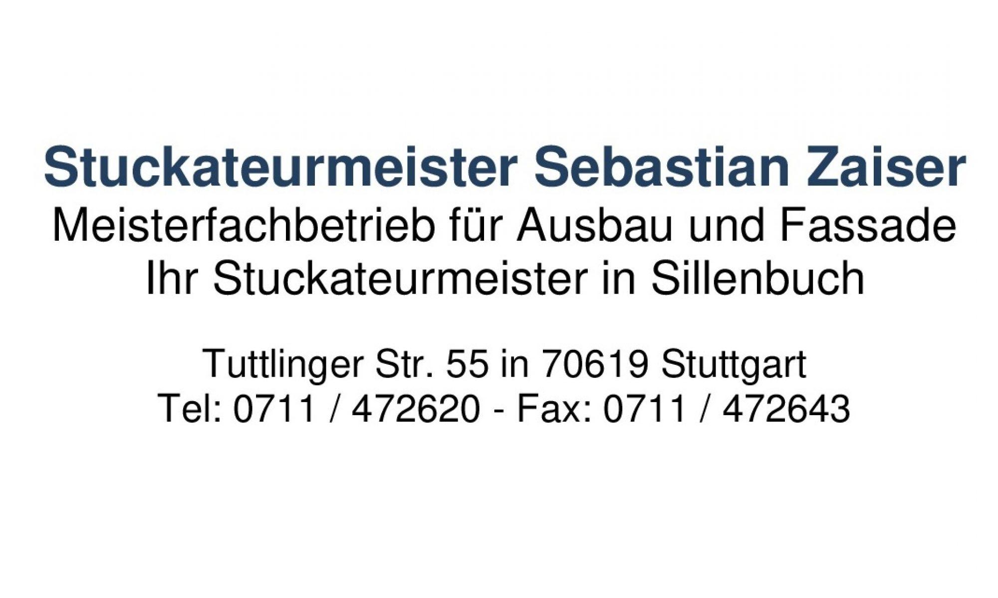 Stuckateurbetrieb Sebastian Zaiser